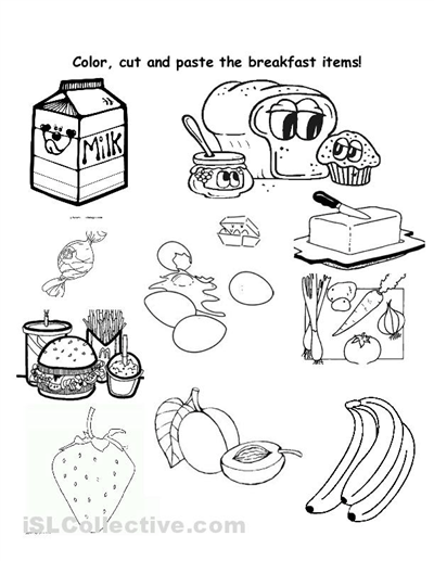 15 Best Images of Healthy Food Cut And Paste Worksheets