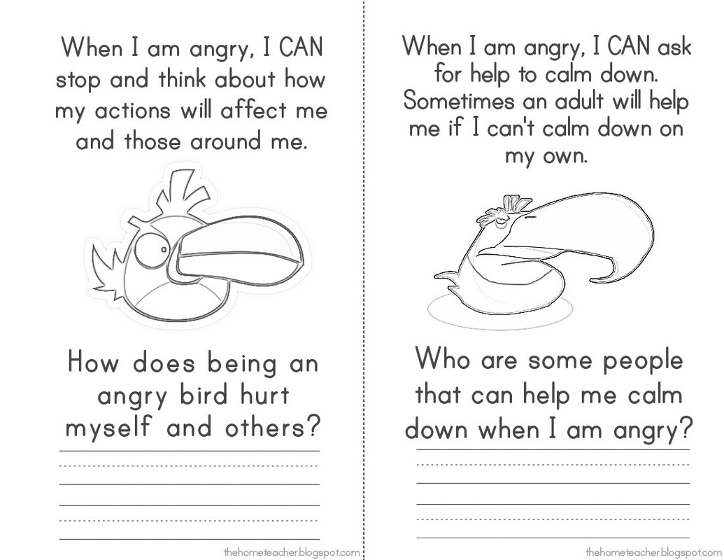 Bingo Anger Management Worksheet