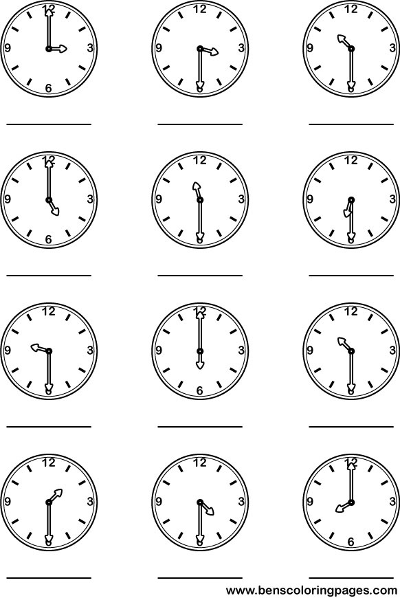 "Search Results for ""Hour And Half Past The Hour Worksheets"