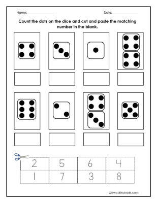 17 Best Images of Cut And Paste Number Matching Worksheet