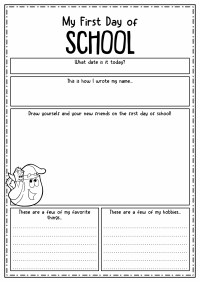 12 Best Images of First Day Of Kindergarten Worksheets ...