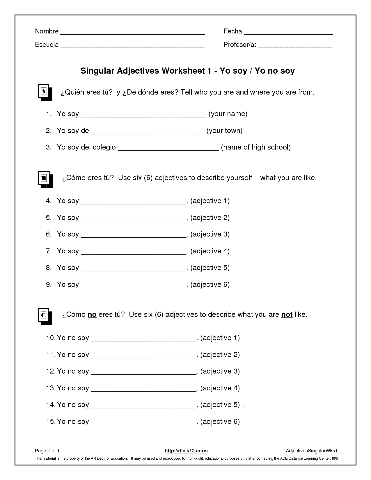 Grounding Worksheet For Teens