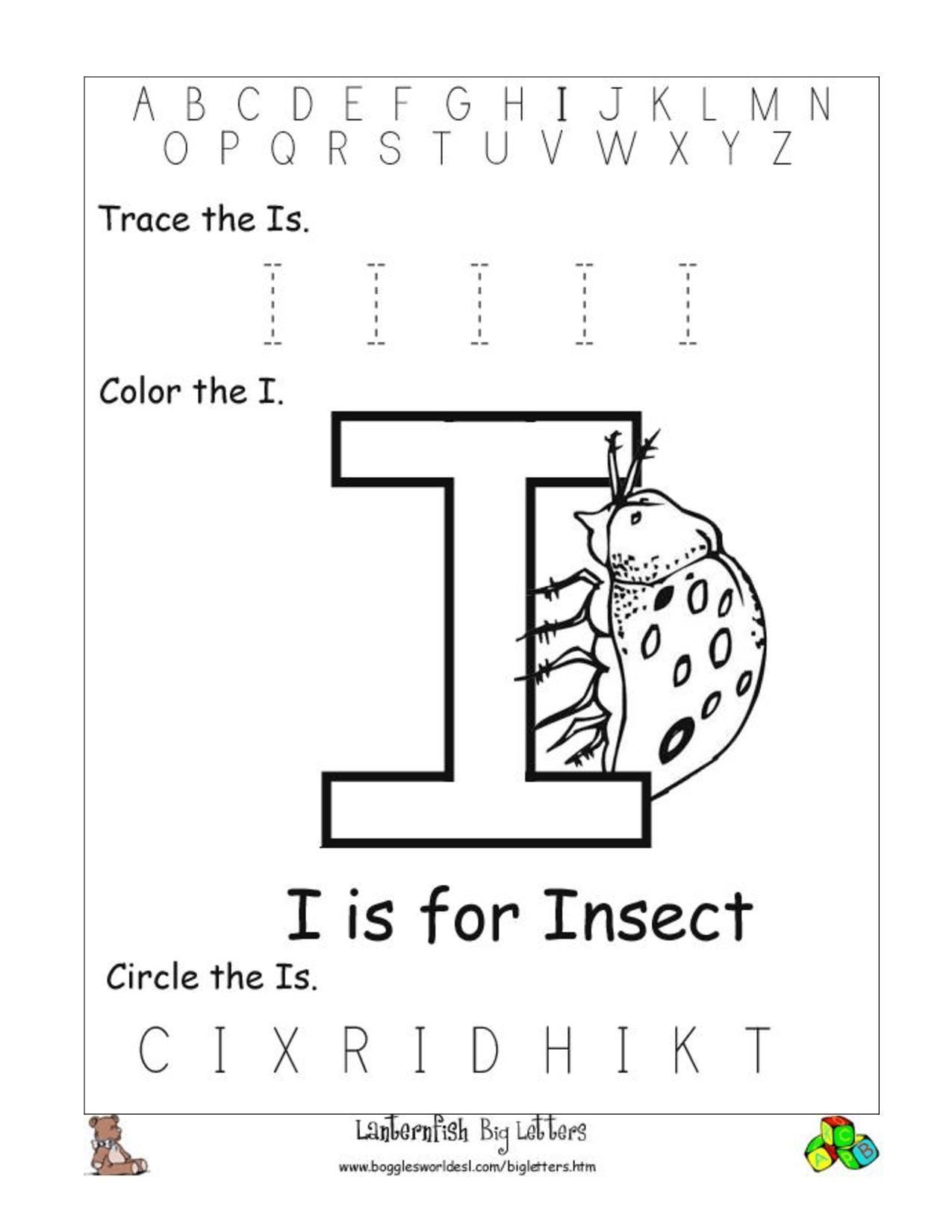 9 Best Images Of Letter Ii Worksheets