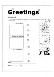 8 Best Images of Spanish Greetings Vocabulary Worksheets