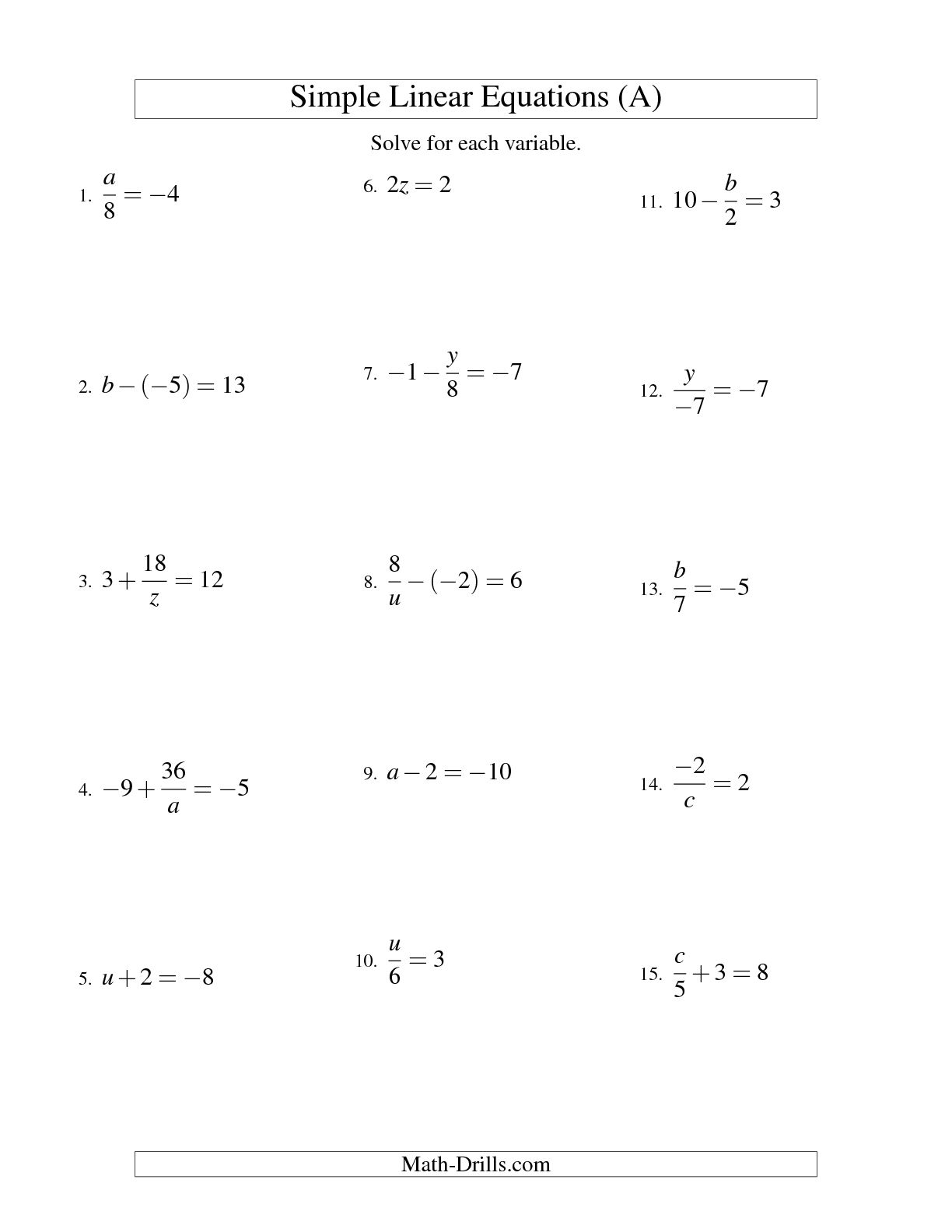 15 Best Images Of Solving Two Step Equations Worksheet
