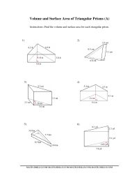 13 Best Images of Surface Area And Volume Worksheets ...
