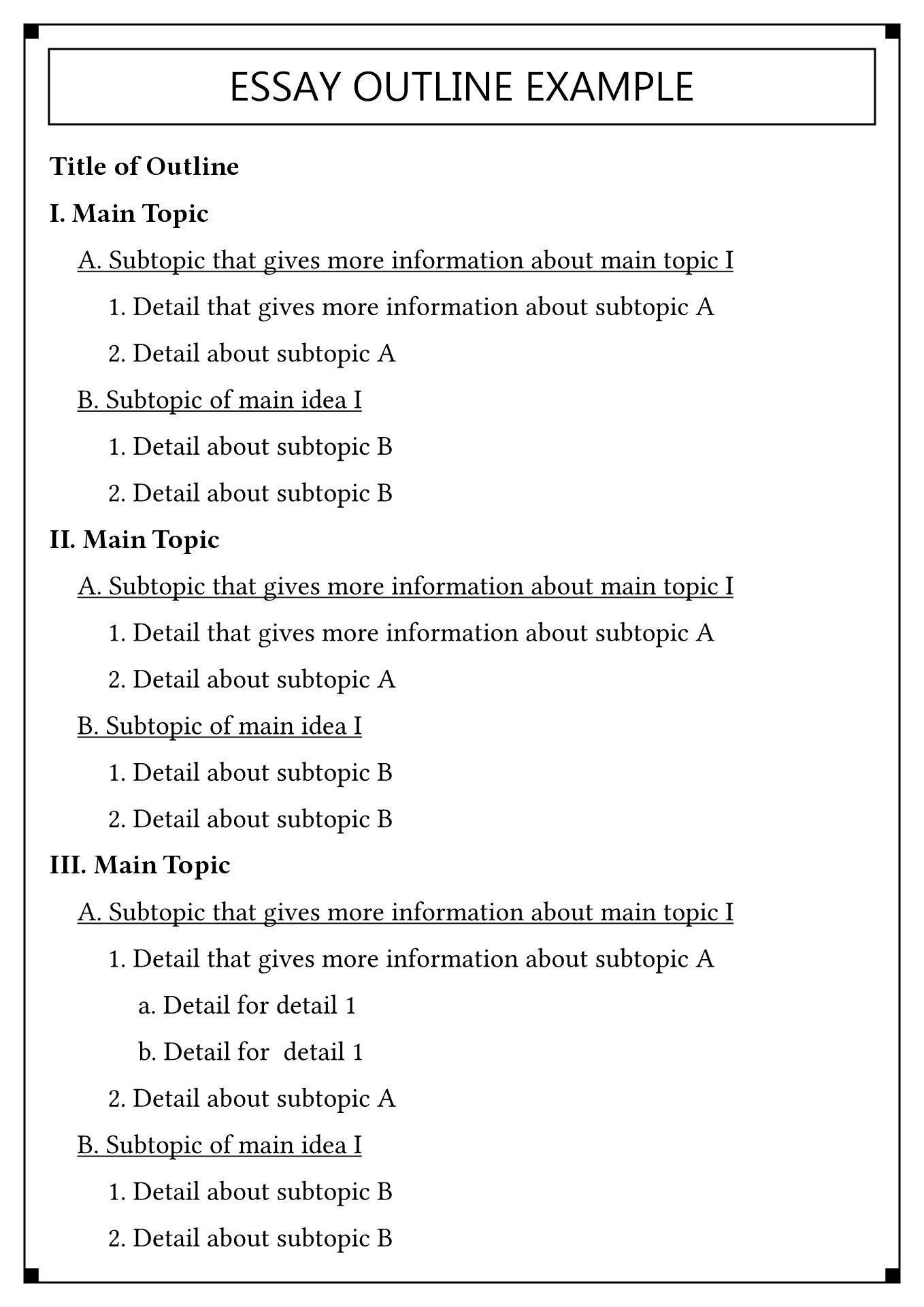 14 Best Images Of College Essay Outline Worksheet