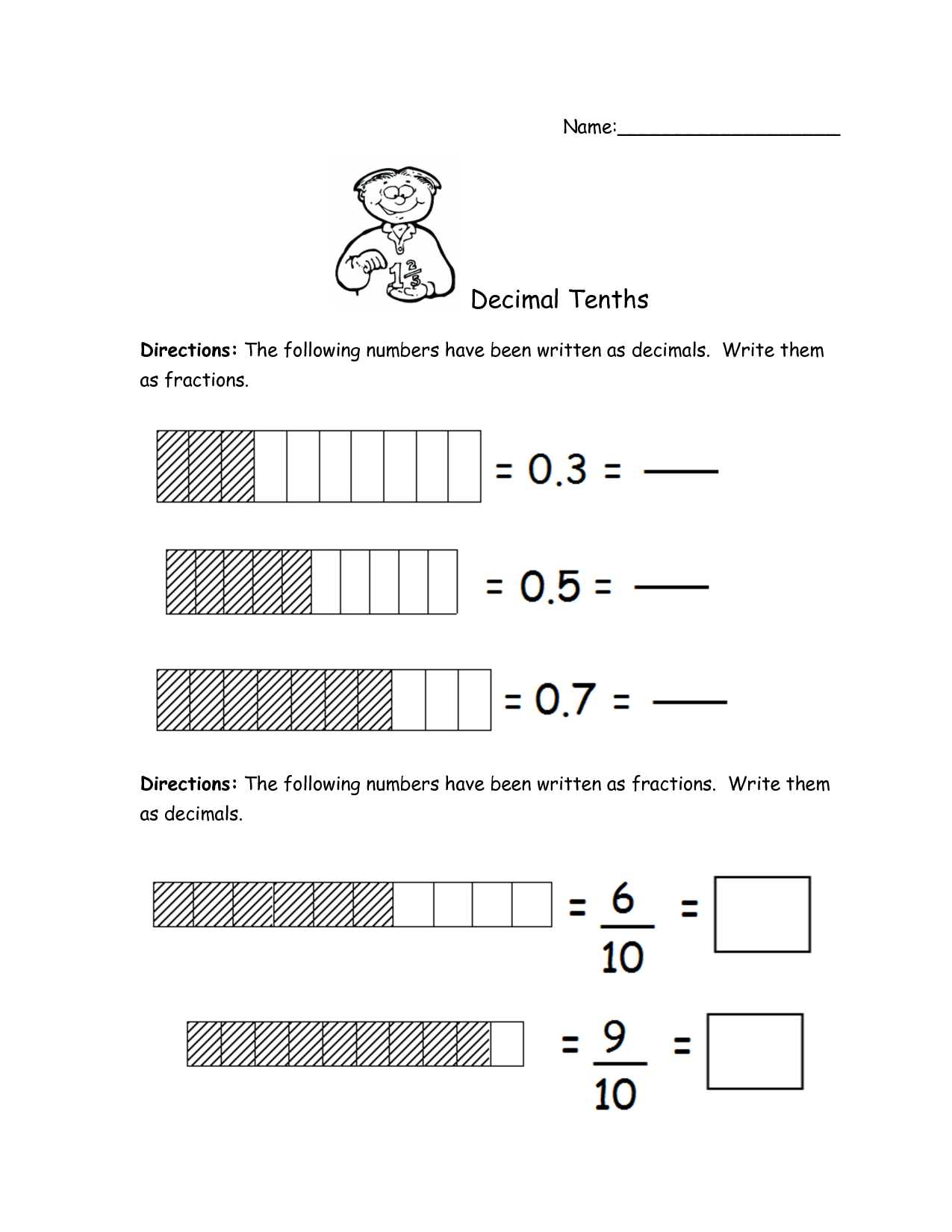 18 Best Images Of Worksheets Writing Decimals