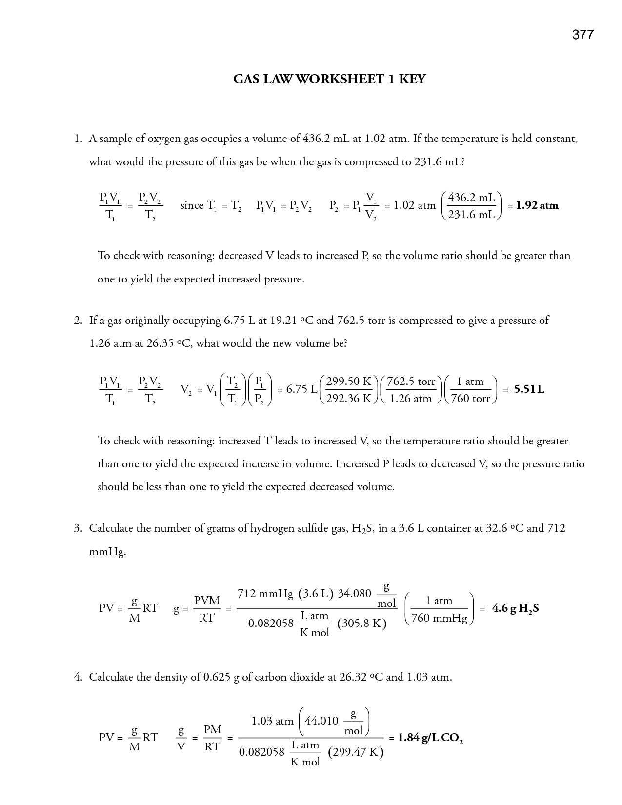 19 Best Images Of Which Law Worksheet Answers Gas Laws