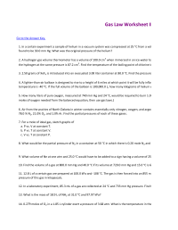 19 Best Images of Which Law Worksheet Answers - Gas Laws ...