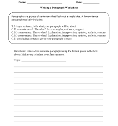 Essay Worksheets 5th Grade   Printable Worksheets and Activities for  Teachers [ 1650 x 1275 Pixel ]