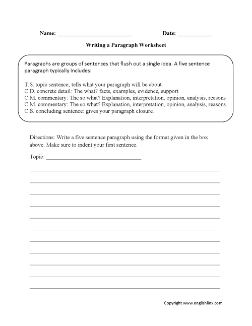 small resolution of Essay Worksheets 5th Grade   Printable Worksheets and Activities for  Teachers