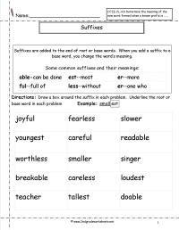 15 Best Images of Prefixes Suffixes Printable Worksheets
