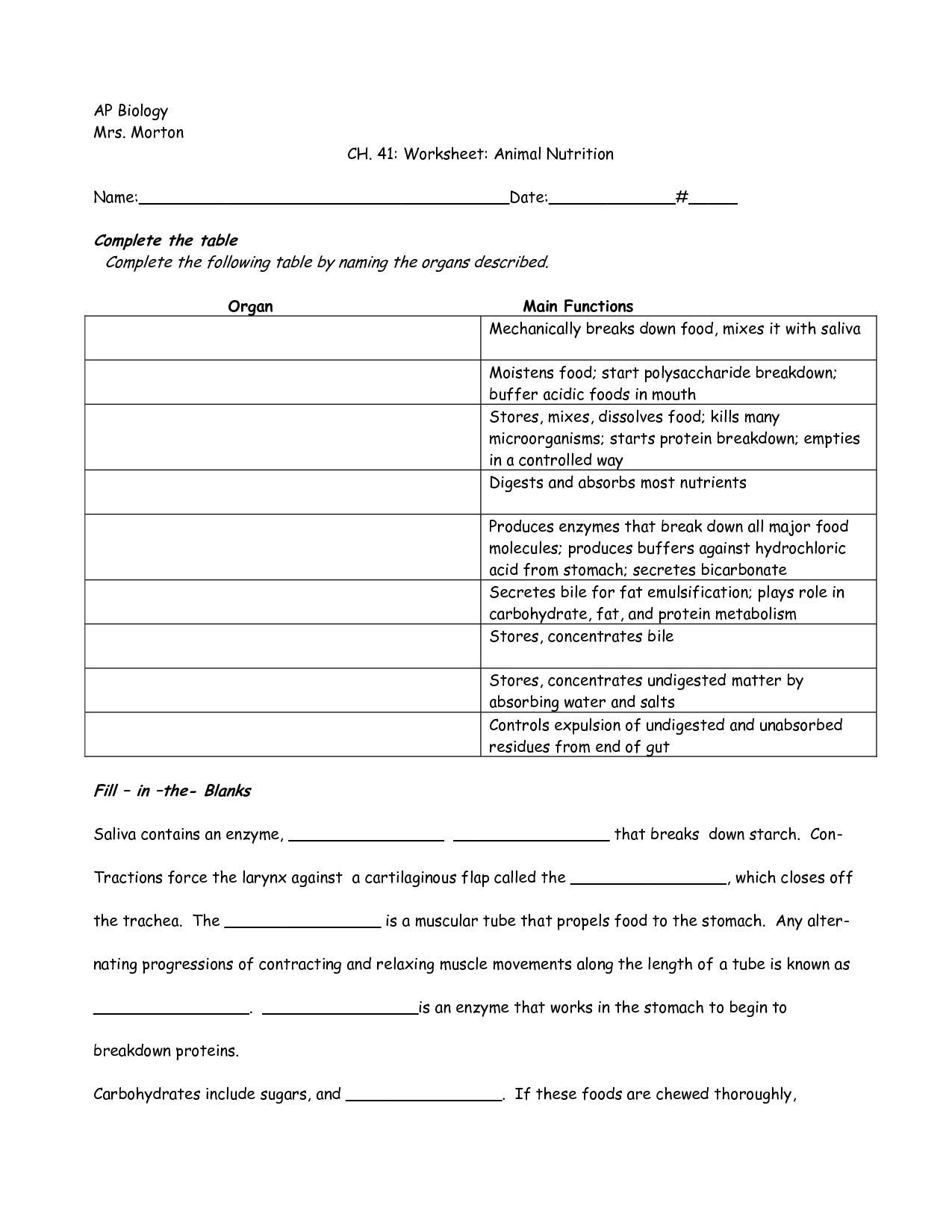 13 Best Images Of Proteint Worksheets