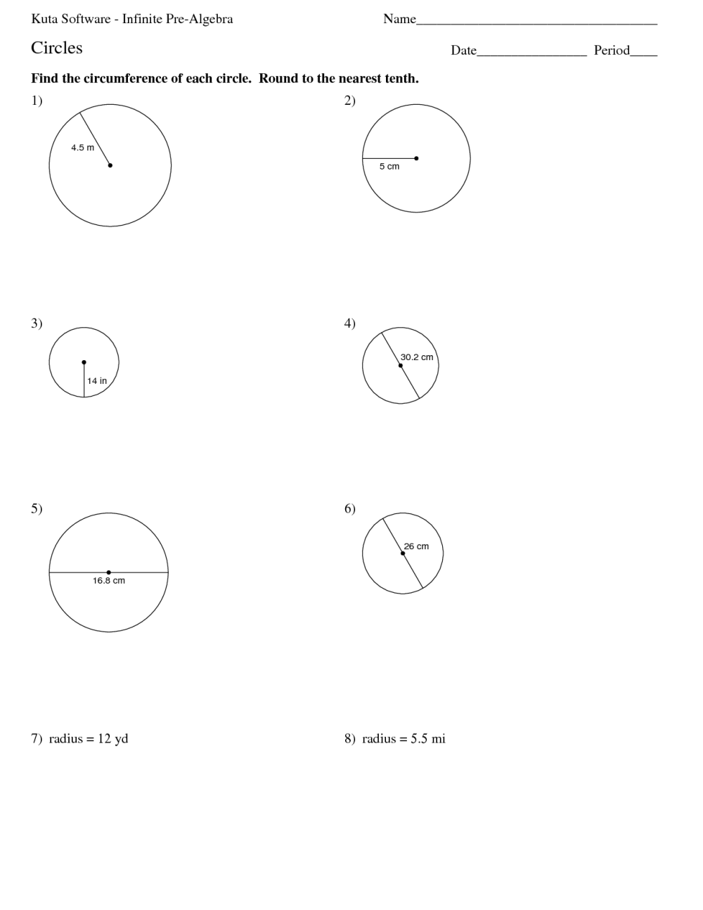 medium resolution of Circles And Circumference Worksheets   Printable Worksheets and Activities  for Teachers