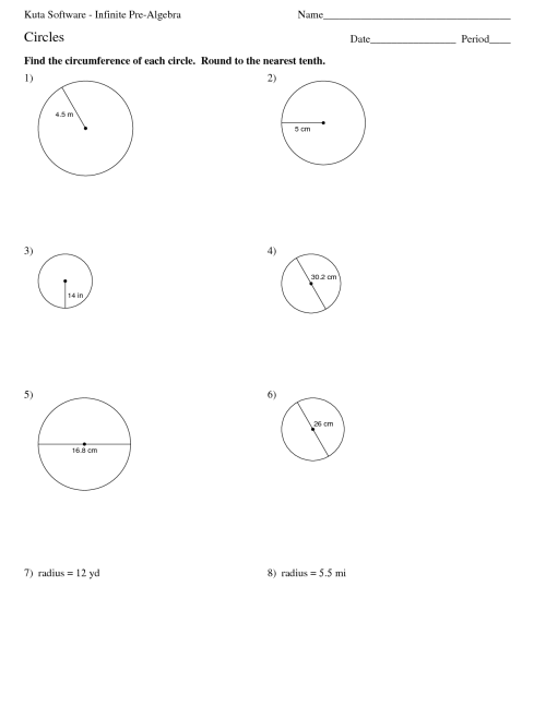 small resolution of Circles And Circumference Worksheets   Printable Worksheets and Activities  for Teachers