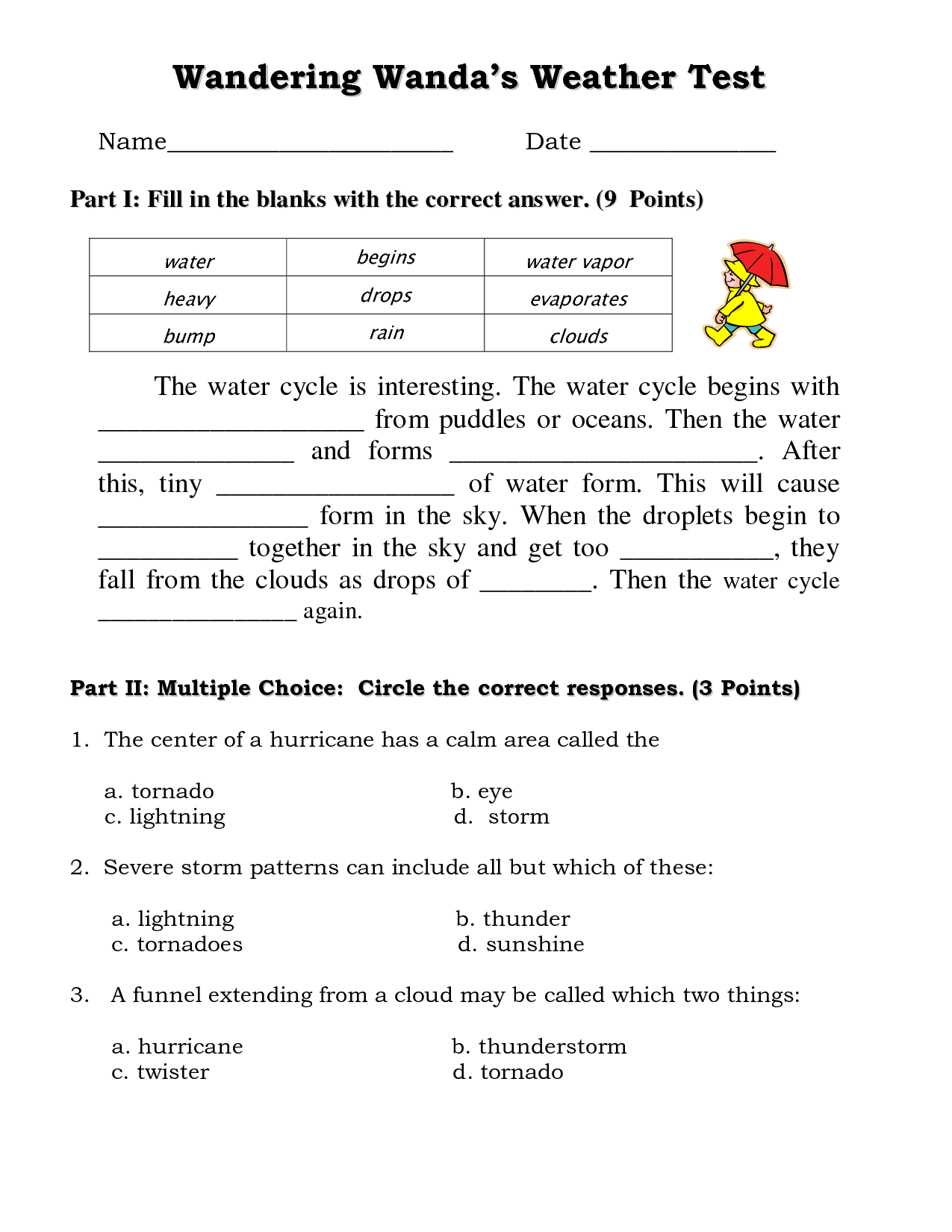 13 Best Images Of The Water Cycle Worksheet Answers