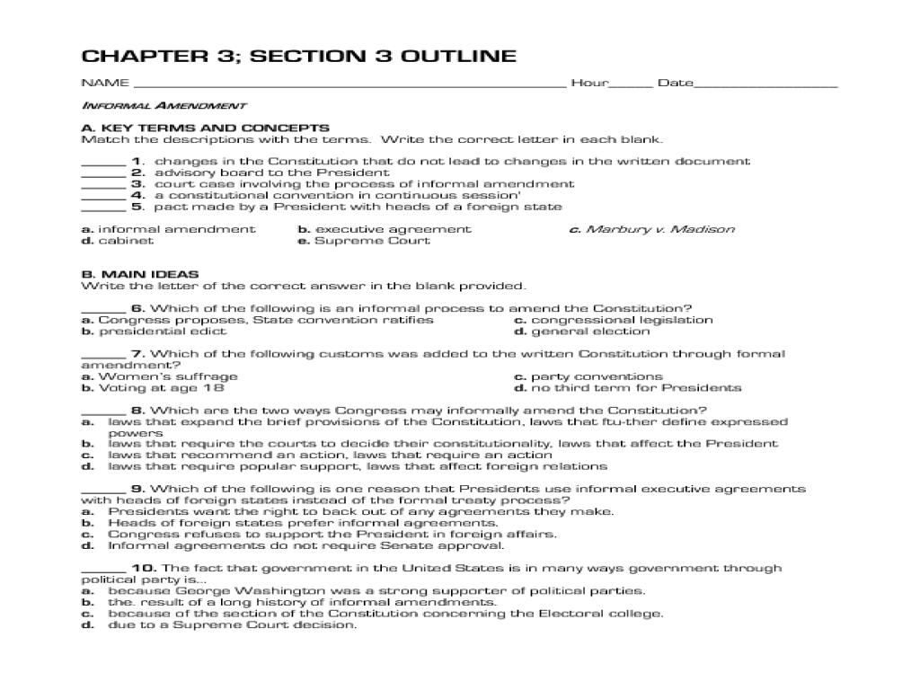 14 Best Images Of 26 Amendments Worksheet