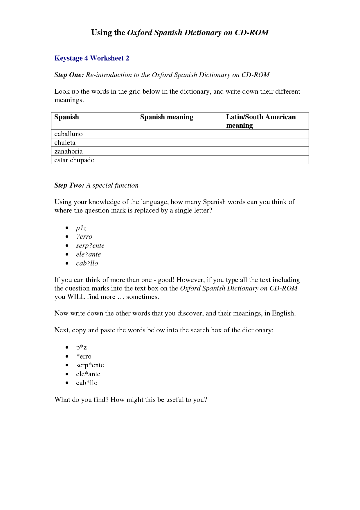 15 Best Images Of Spanish Ii Worksheets