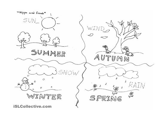 14 Best Images of Four Seasons Of The Year Worksheets