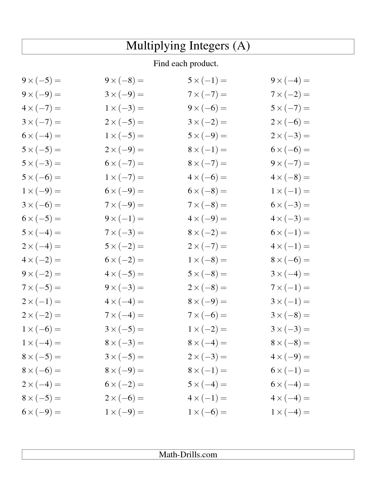 15 Best Images Of Exponents And Multiplication Worksheet