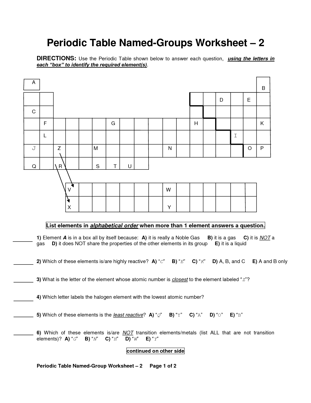 14 Best Images Of Properties Of Metals Worksheet