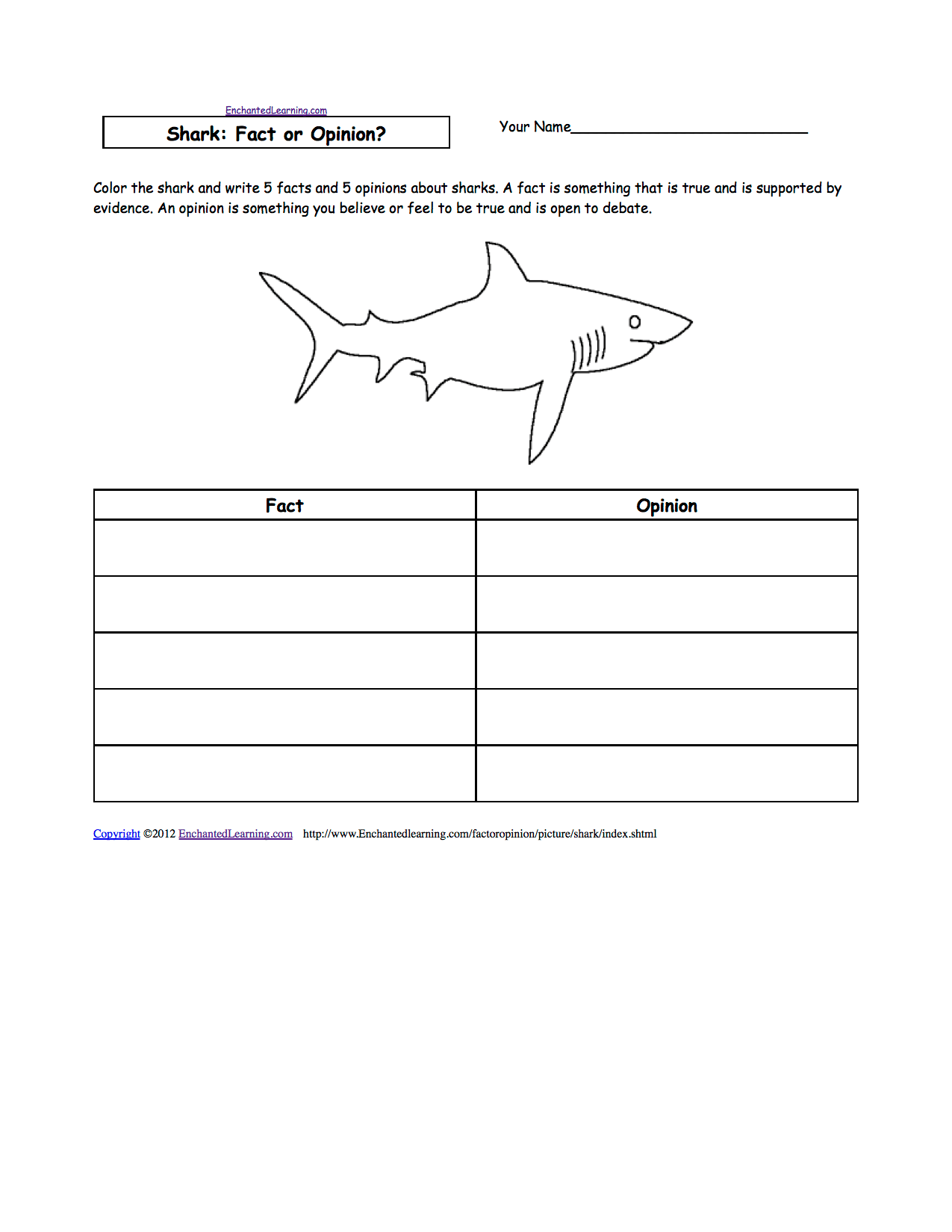 10 Best Images Of Fact Or Opinion Worksheets Printable