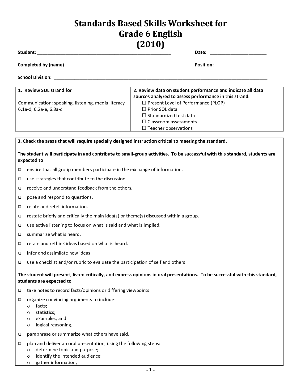 Proper Noun Worksheet 6th Grade