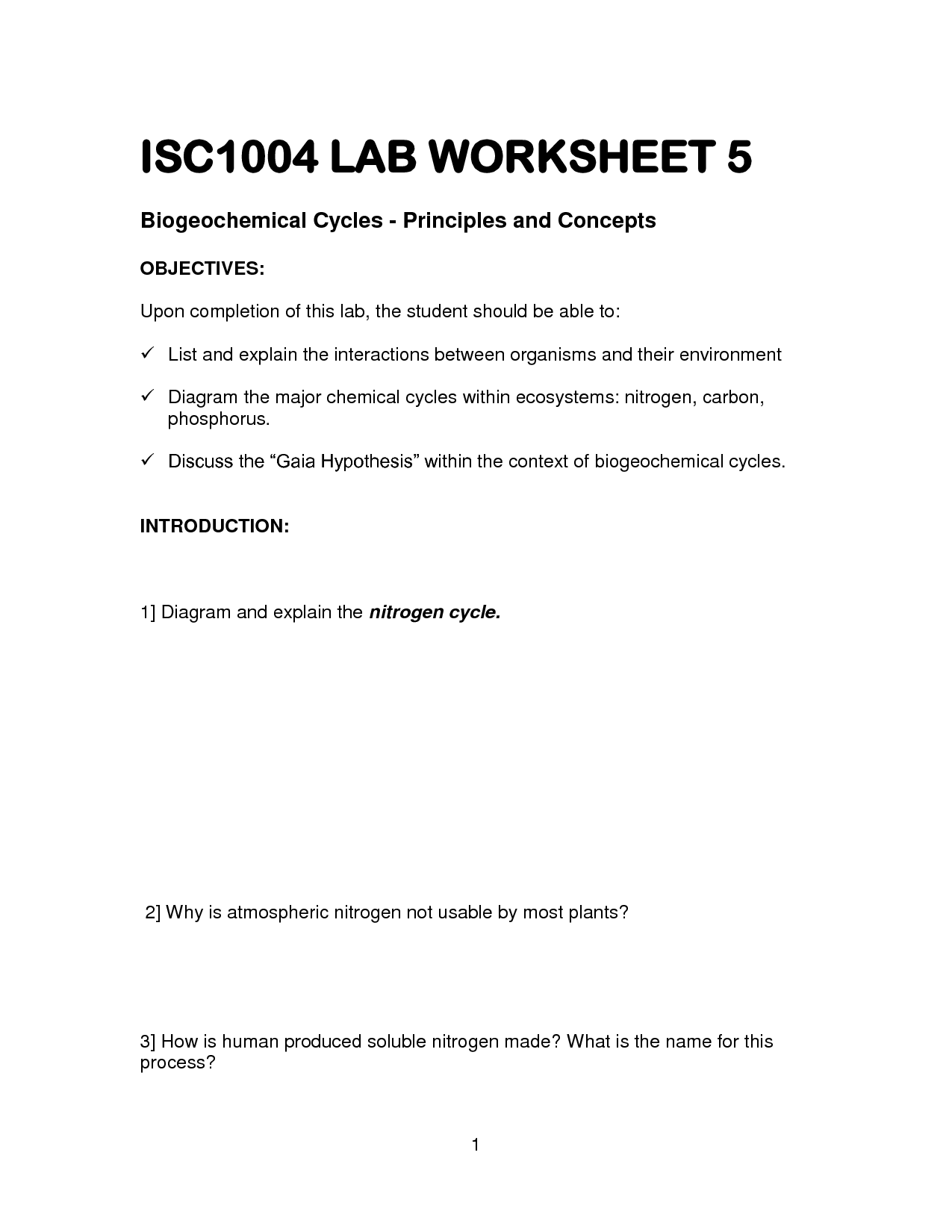 17 Best Images Of Nitrogen Cycle Worksheet