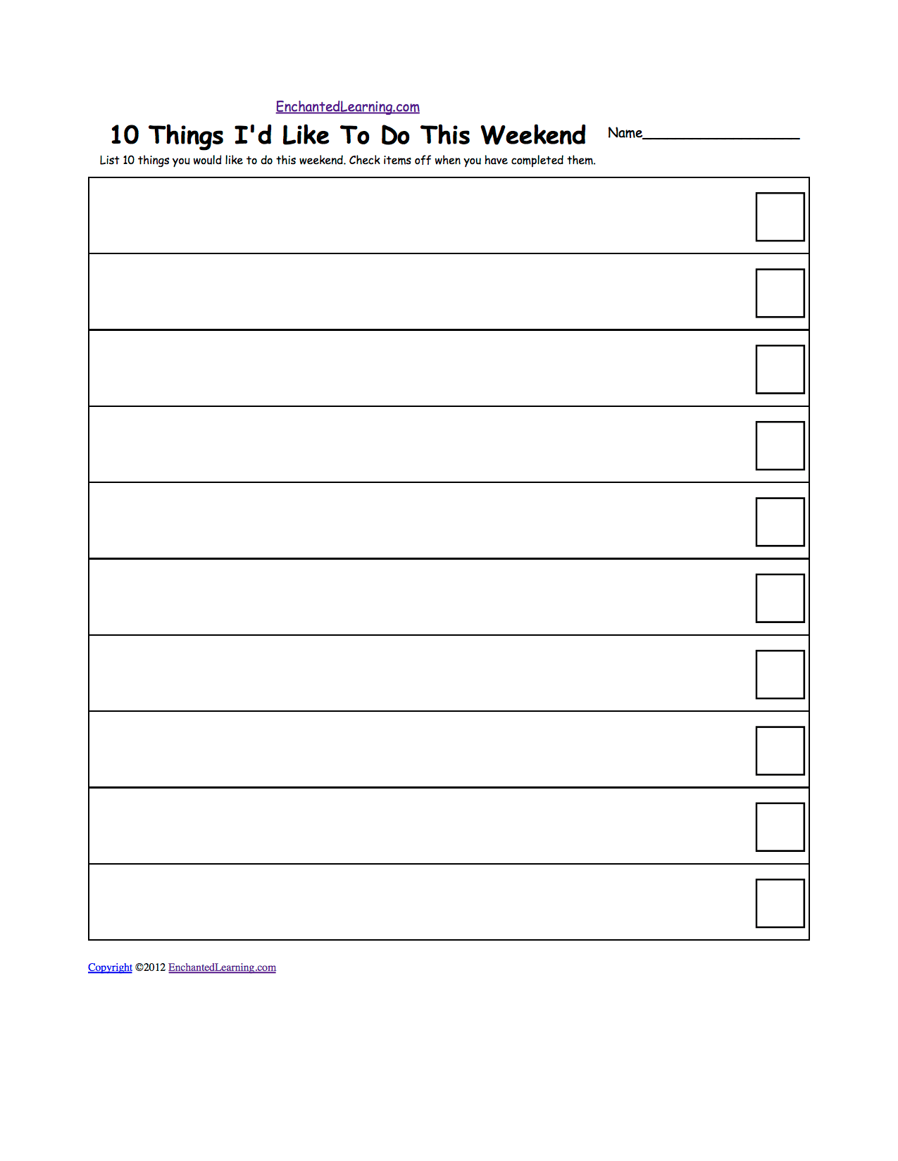 12 Best Images Of Printable Worksheet To Do List