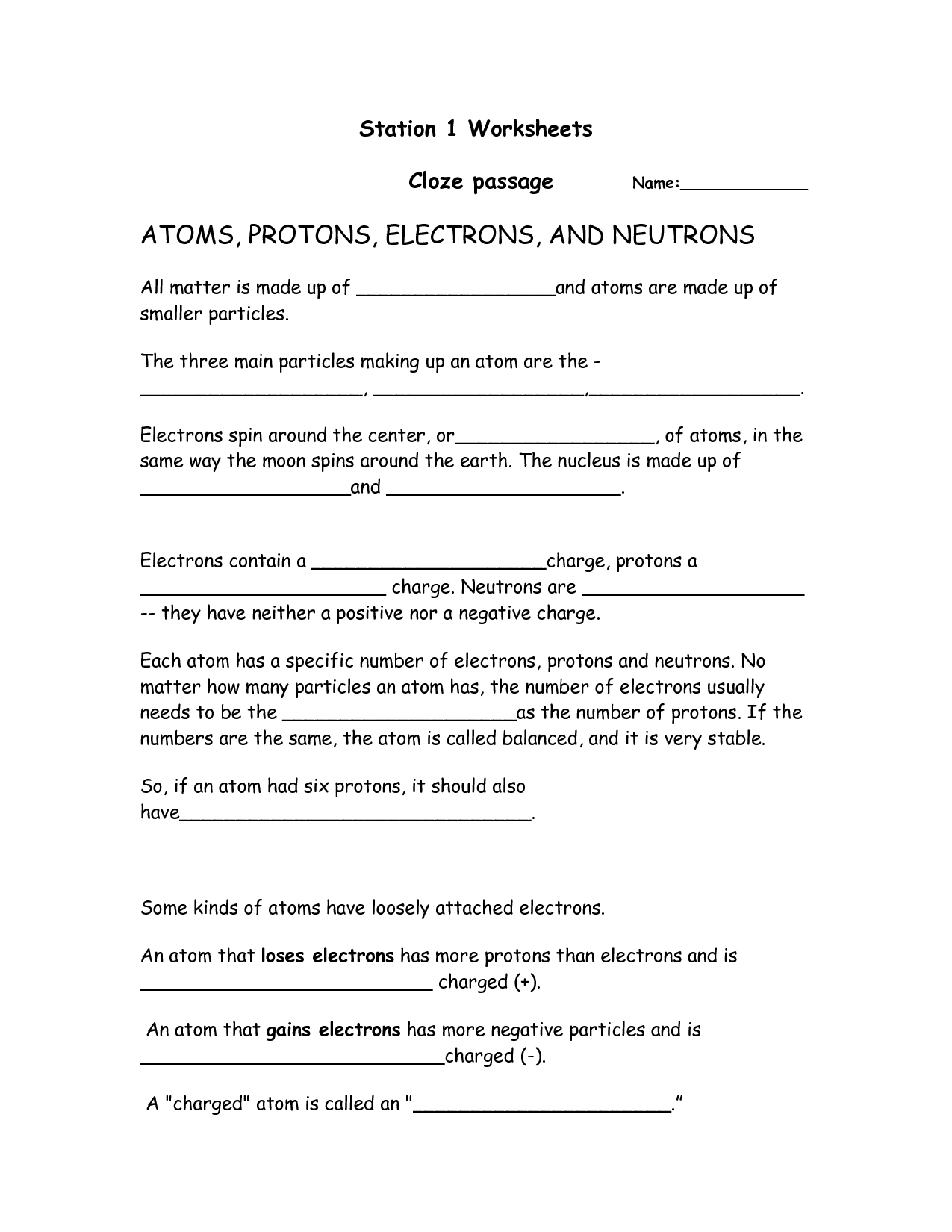 16 Best Images Of Reading Passage Worksheets