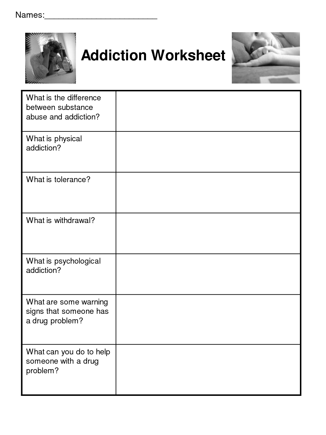 Boredom Recovery Worksheet
