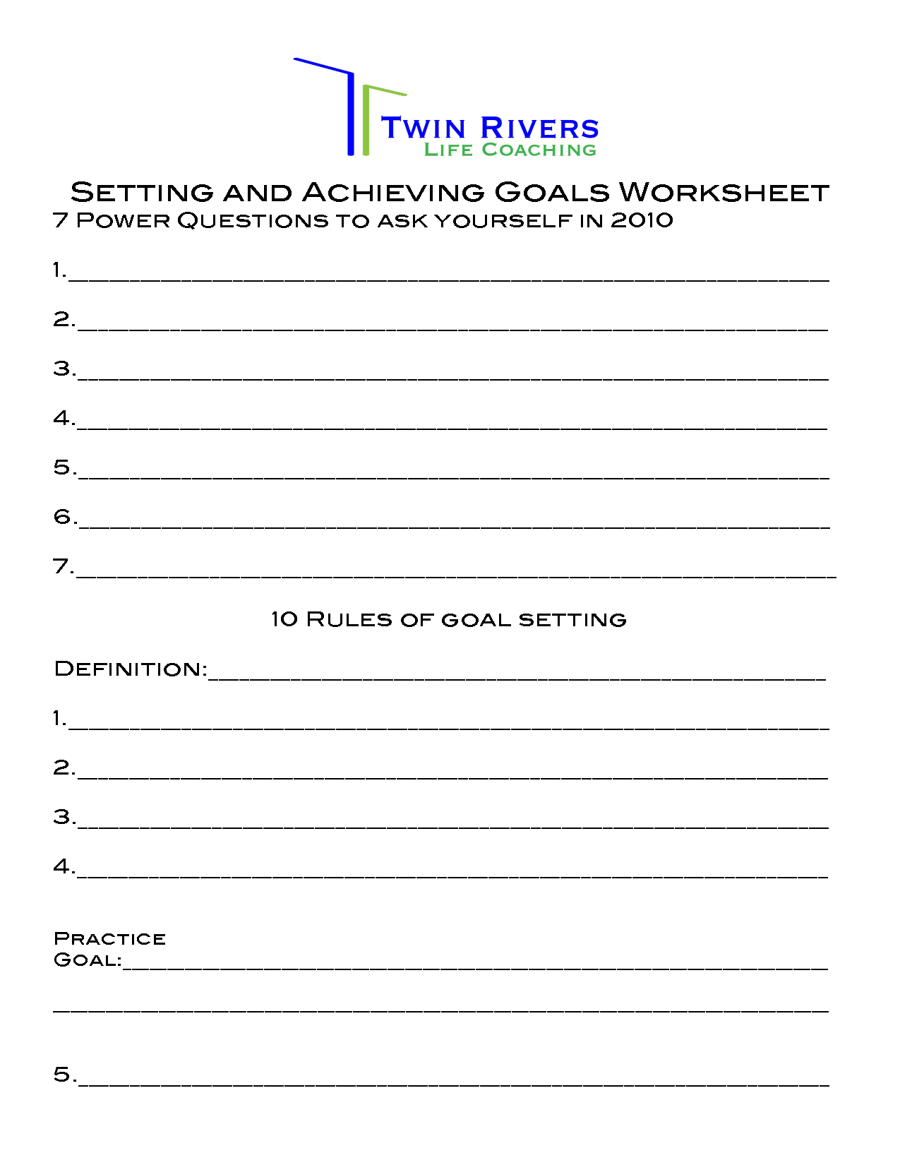 33 Brian Tracy Goal Setting Worksheet