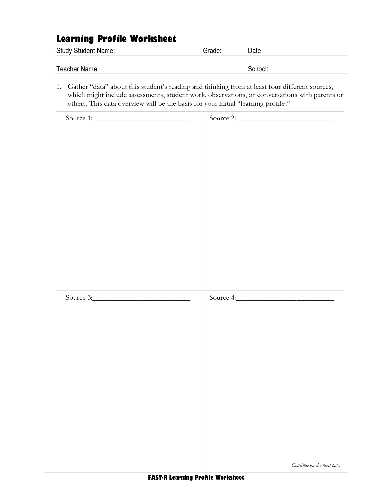 17 Best Images Of Learner Profile Worksheet