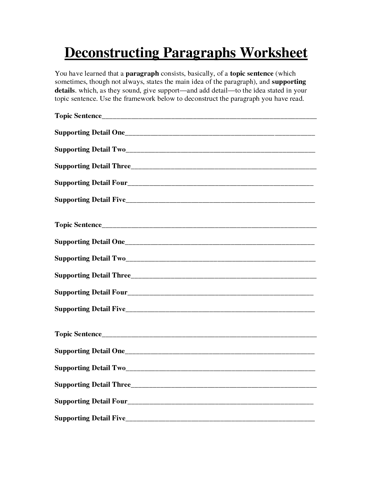 13 Best Images Of Descriptive Paragraph Worksheet