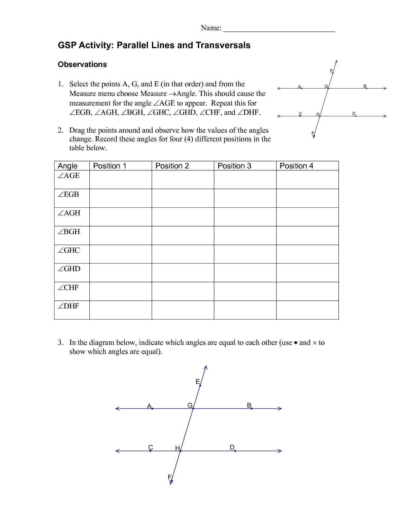 7 Best Images Of Parallel Lines Worksheet