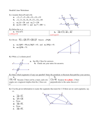 7 Best Images of Parallel Lines Worksheet - Parallel ...
