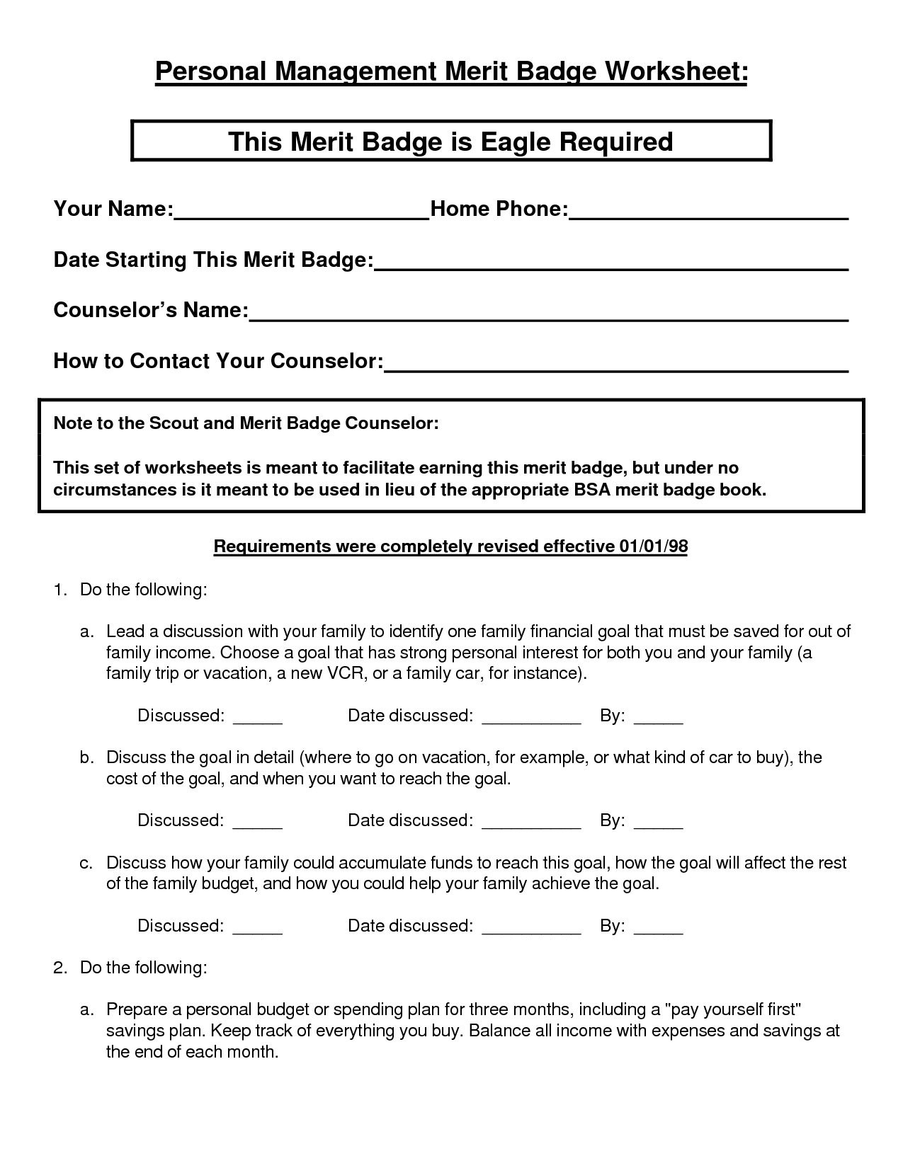 16 Best Images Of Scout Merit Badges Worksheets