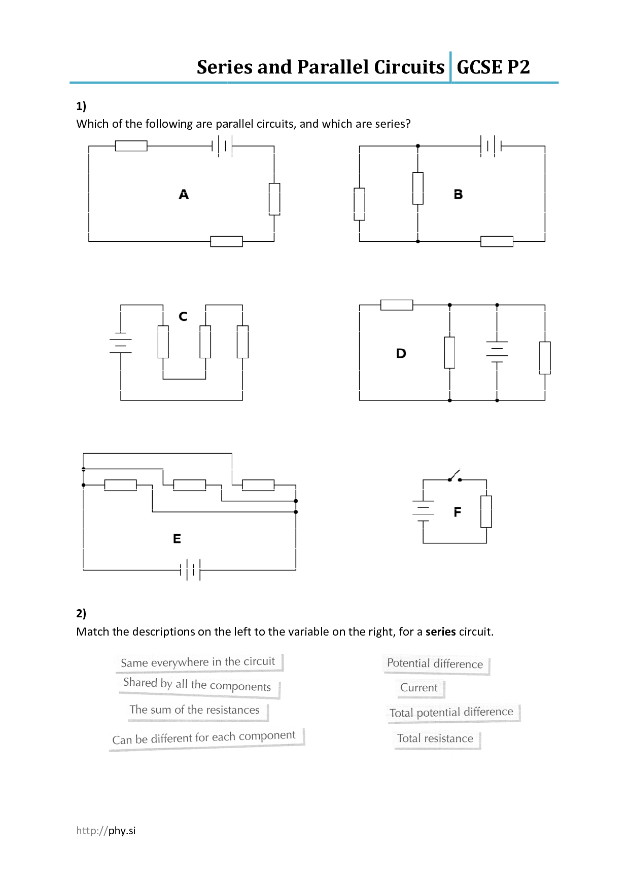 diagram of series and parallel circuits 98 ford ranger ignition wiring rv isolator dual battery