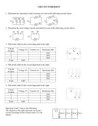 12 Best Images of Series Parallel Circuit Worksheet ...