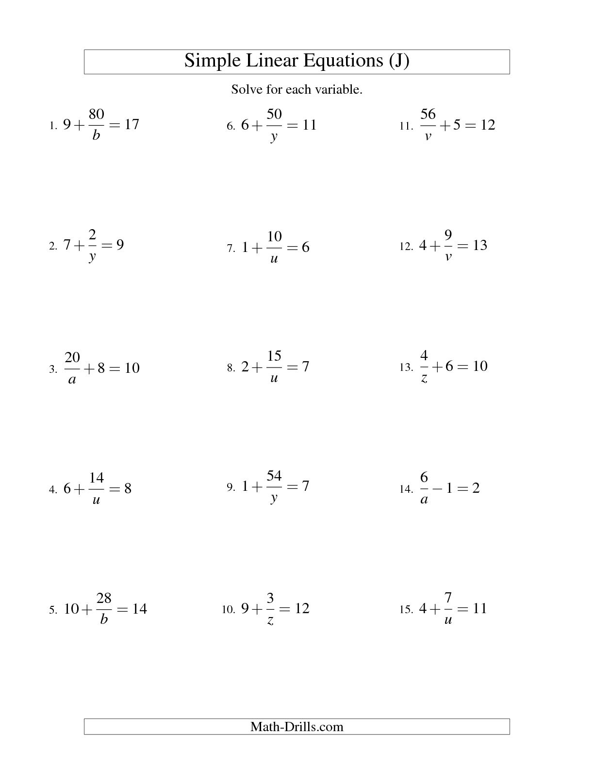 13 Best Images Of 2 Step Equations 7th Grade Math Worksheets