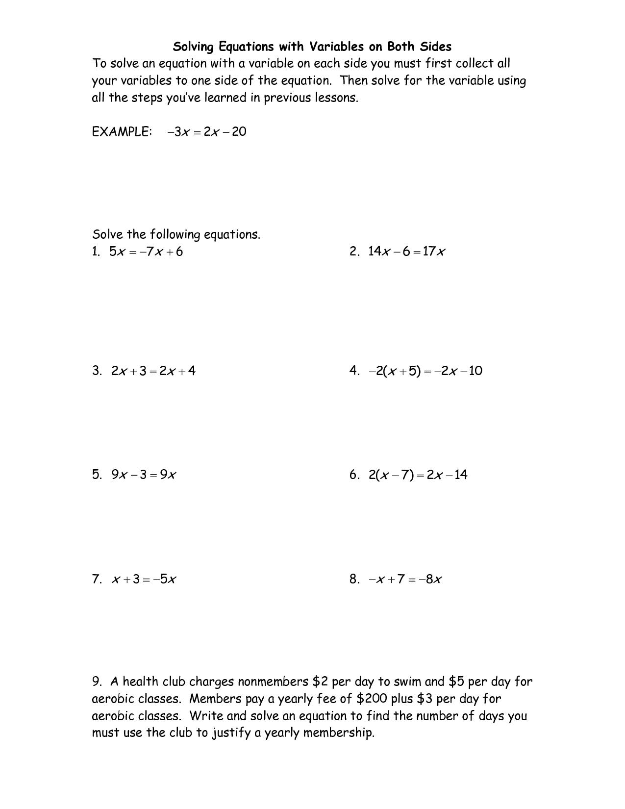 14 Best Images Of Fraction Equation Worksheets With