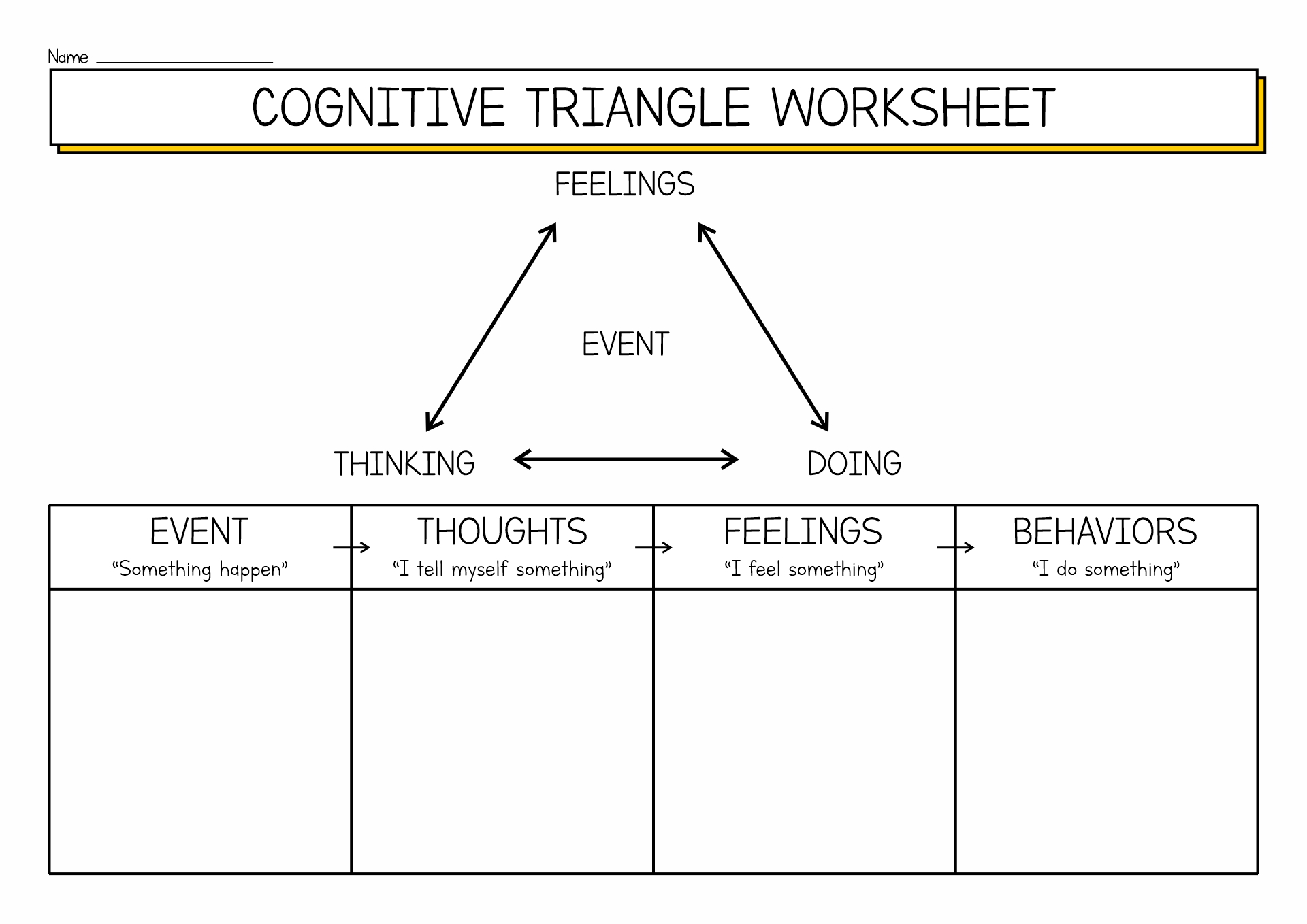 17 Best Images Of Cognitive Behavioral Thought Worksheets