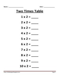 11 Best Images of Printable Multiplication Worksheets 2