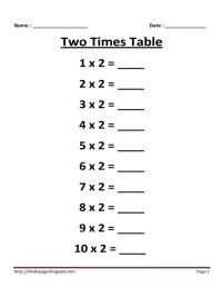 11 Best Images of Printable Multiplication Worksheets 2 ...