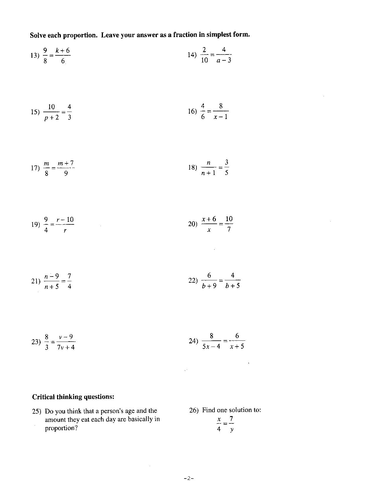10 Best Images Of 7th Grade Math Worksheets With Answer