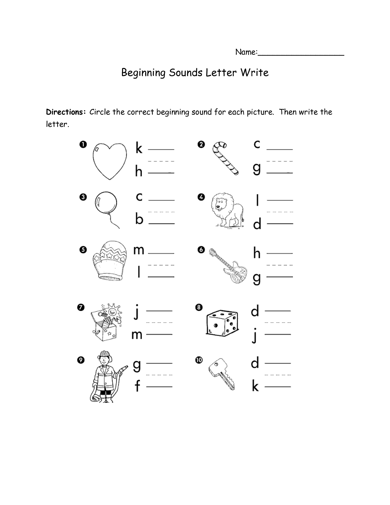 Search Results For Initial Sounds Worksheets For