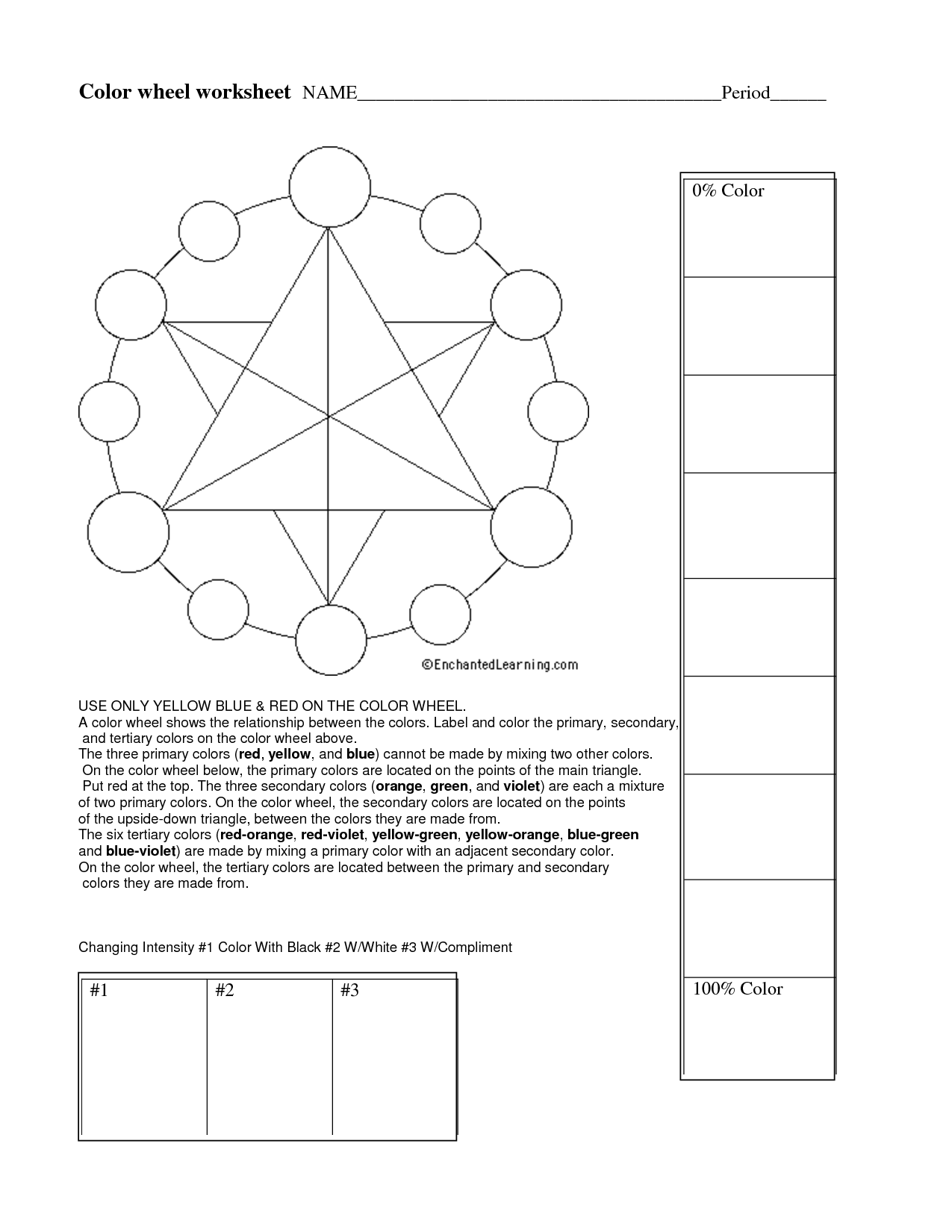 17 Best Images Of Color Wheel Worksheets