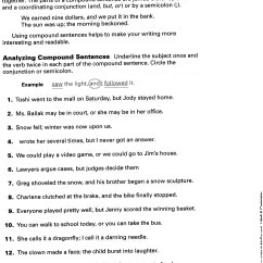 Diagramming Sentences Worksheets 5th Grade Jvc Kd R200 Wiring Diagram 2 Free Printable Compound