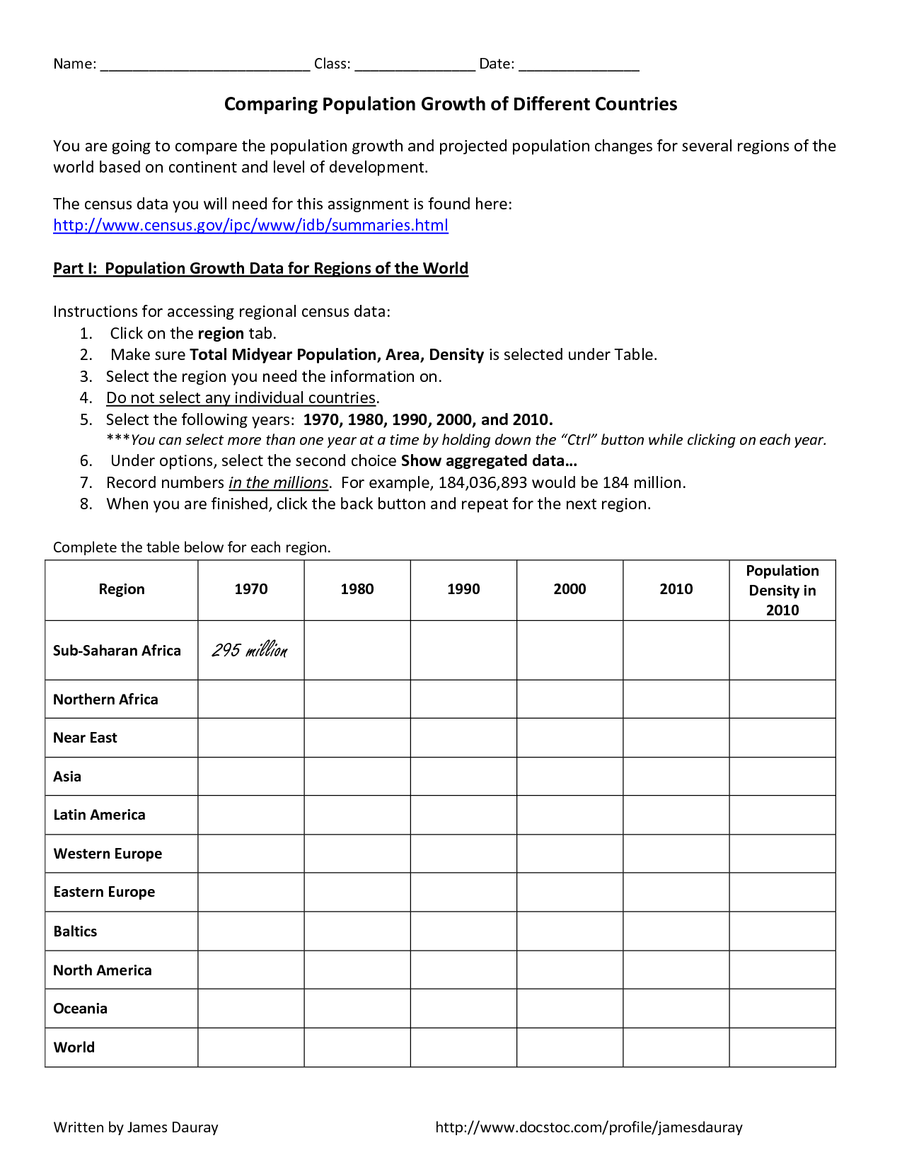 Worksheet On Density For Middle School